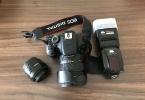 Canon 600D+ Canon 50 mm 1.8 ef, sigma 17-50 2.8 + pixel x800 flaş