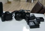 Canon60d + Canon600d + 4 Batarya + Baterrygrıp + İki Kart + Çanta