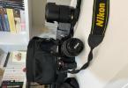 Nikon D5100 Kamera 18-55 ve 55-200 Lens ve Çanta Yanında