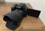Nikon d5300 18-70 stok + 50mm f1.8 çanta, boyun askısı dahil tüm set