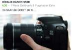 Kiralık Canon 550d - Samsun'da Yerimiz Gelen Herkes Yararlanabilir.